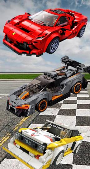 mattoncini Lego Auto da corsa Speed champions